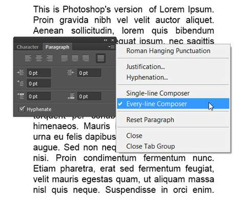 reset tool on photoshop type tool in photoshop cs6 character and paragraph