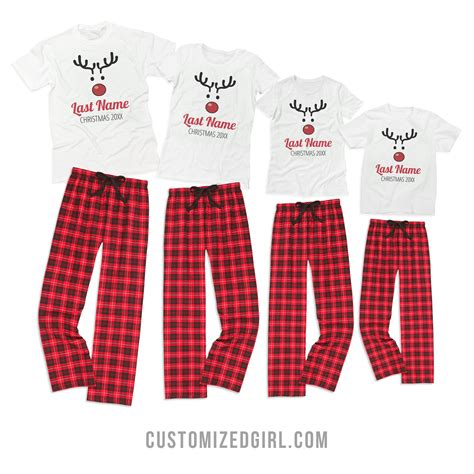 Where Can I Get Matching Shirts Custom Rudolph Family Pajamas Who Doesn T Like