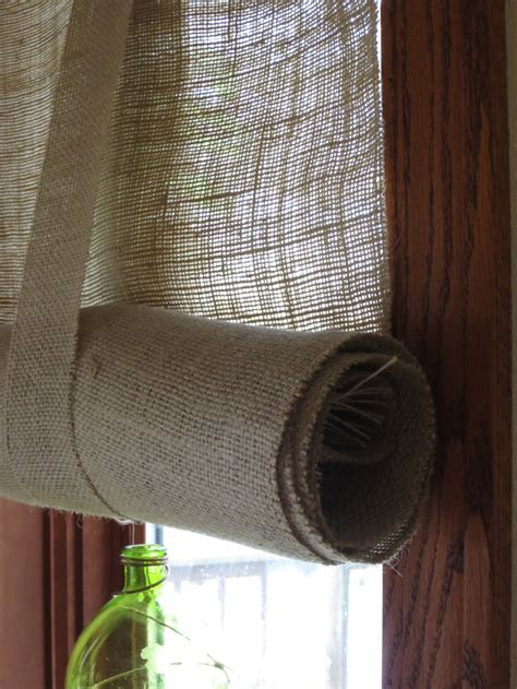 roll up curtains burlap curtains roll up or hang as a panel fringed