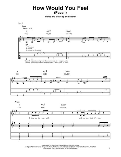 ed sheeran how would you feel chords how would you feel paean sheet music by ed sheeran