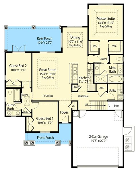 net zero floor plans 2 story net zero house plan 33115zr 1st floor master