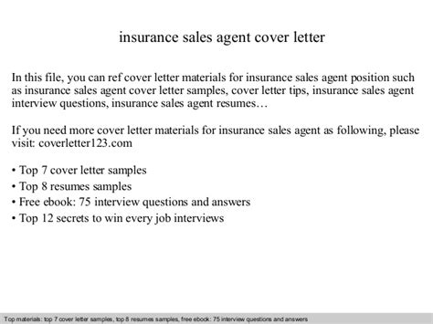 Insurance Agency Letters Insurance Sales Cover Letter