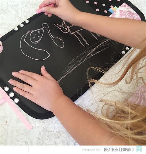 diy chalkboard mat leopard diy chalkboard mat with chalk storage