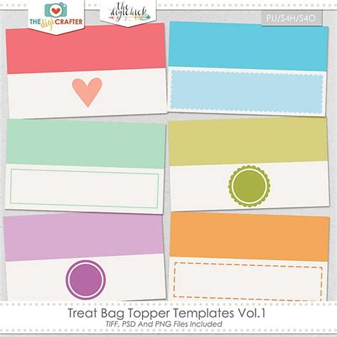 treat bag template bag topper templates just b cause