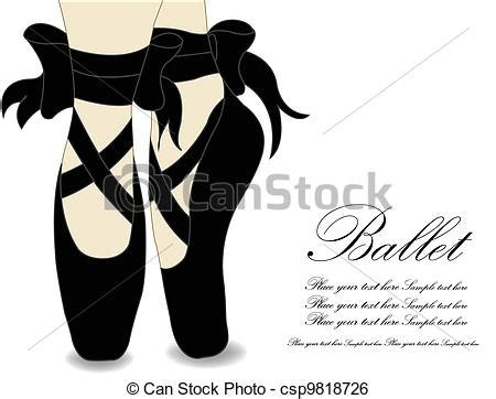 ballet shoes vector illustration vector clipart instant