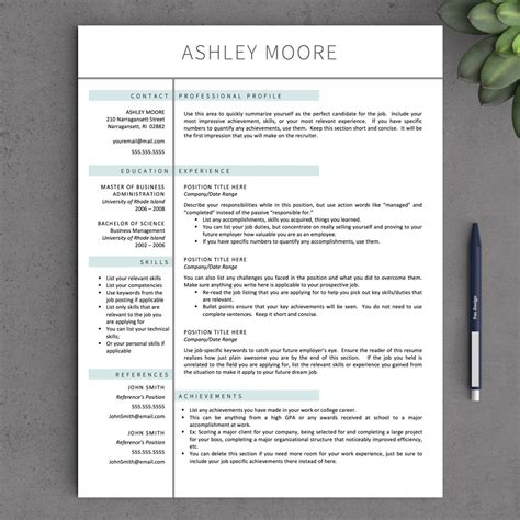 2 Page Resume Template by Apple Pages Resume Template Apple Pages Resume