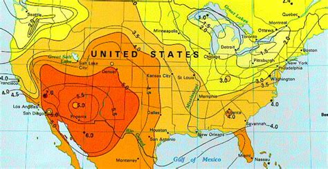 solar radiation map usa solar insolation map united states of america