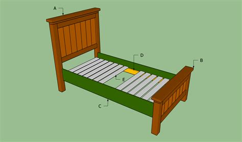 woodwork bed frame plans twin  plans