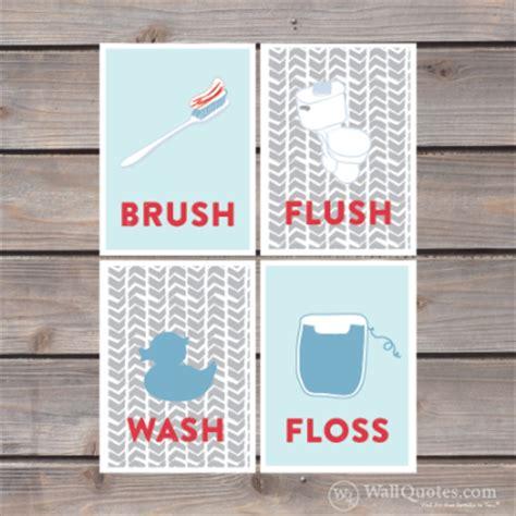 wall art printable set bathroom sayings wash brush floss brush floss flush wall quotes gicl 233 e art print collection