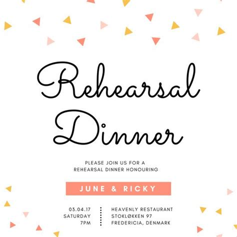 Rehearsal Dinner Invitations by Customize 380 Rehearsal Dinner Invitation Templates