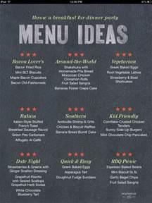 Ideas For Dinner Party Menu - breakfast for dinner just got tastier quirk books