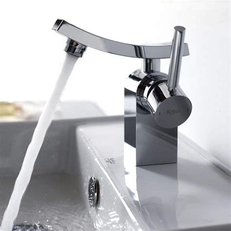 Bath Faucets by Kraus Kef 14301ch Unicus Single Lever Basin Faucet