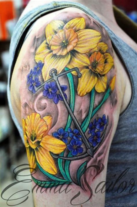 94 dazzling daffodil flower tattoos