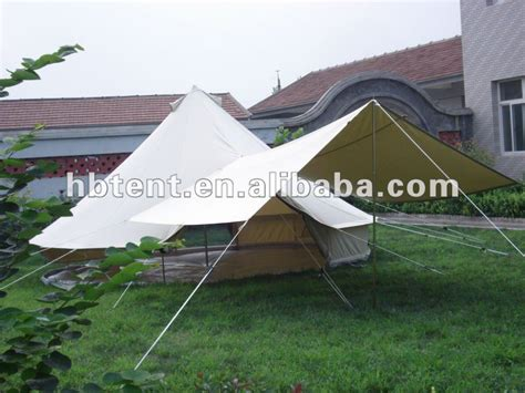 4m 5m canvas tarp tent awning canopy tent iso9001 2008