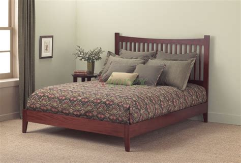 fashion bed jakarta bed contemporary bed in mahogany black