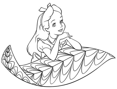 alice in wonderland coloring pages free printables for