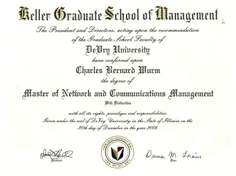 Keller Graduate Mba Program by Education Awards