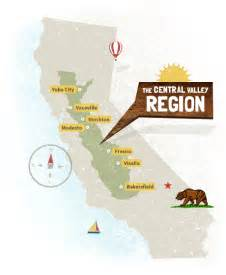 map of california central valley the rural
