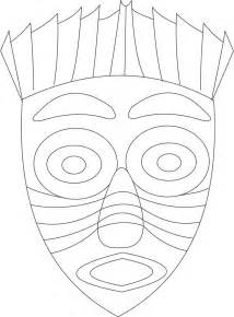 african mask coloring coloring