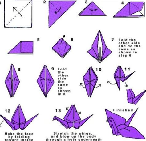 How To Do A Bird Origami - step step by step oragomi how to do origami step by step