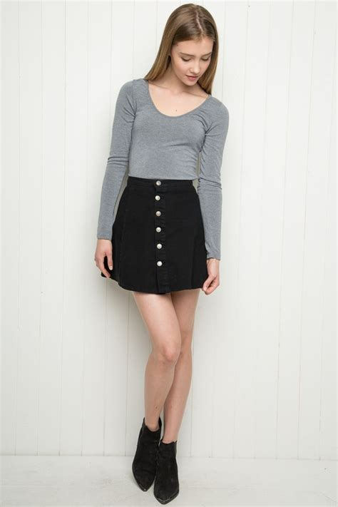 1000 ideas about black denim skirt on denim