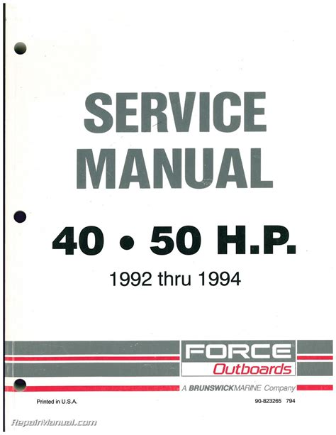service manual free owners manual for a 1992 mercedes benz 500sl service manual free service 1992 1993 1994 force outboard engine 40hp 50hp service manual