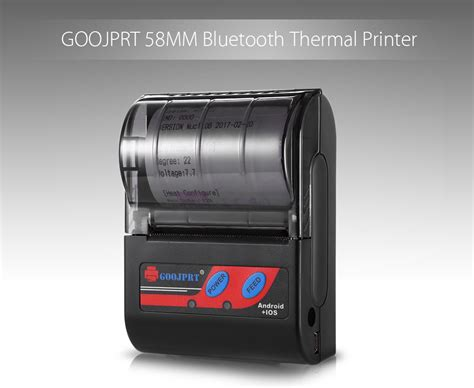 Goojprt 58mm Bluetooth Wireless Receipt Thermal Printer For Windows Android Ios Ebay Thermal Printer Receipt Template