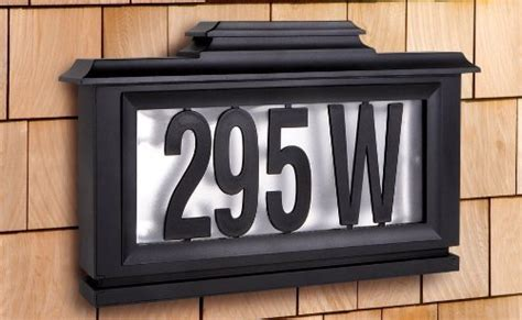 solar powered house numbers address illuminated lighted bronze mail box heavy duty mailbox postal box security