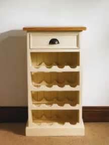 mottisfont painted floor standing wine rack oak