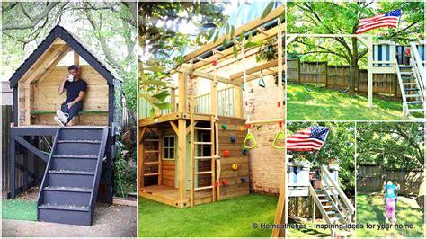 creative kids wooden playhouses designs   yard