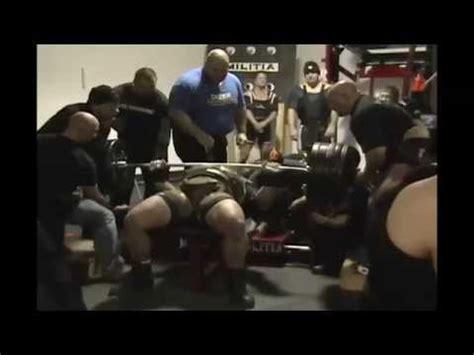 gene rychlak bench press 1010lb world record bench press