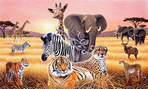 african decor africa home furnishings safari home decor walltastic jungle adventure 8ft x 10ft at wilko com