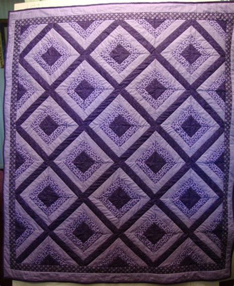 Purple Quilt by Two Color Quilt Pattern Suggestions Page 2