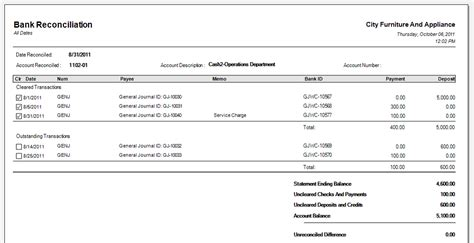 account reconciliation template bank reconciliation template cyberuse