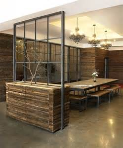 Design Ideas For Office Partition Walls Concept Wood And Metal Wall Divider Open Concept Without Closing Space Industrial Office Decor