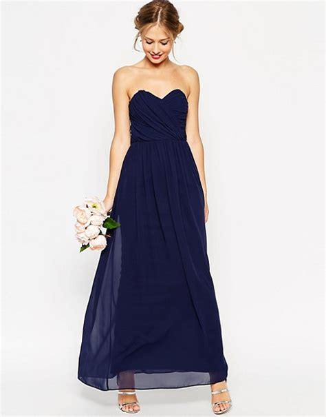 asos asos wedding bandeau maxi dress