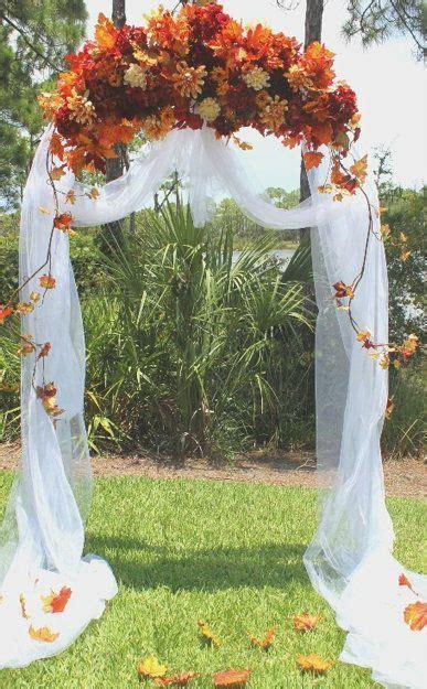 36 Fall Wedding Arch Ideas for Rustic Wedding   Jasmine's