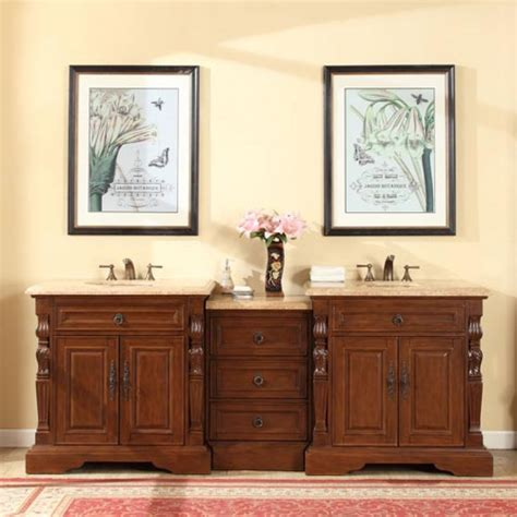 90 bathroom vanity 90 inch traditional double bathroom vanity with a travertine counter top uvsrv0278tw90d