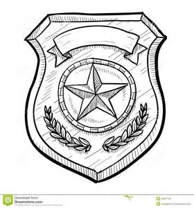 police or security badge sketch stock vector image 22337749