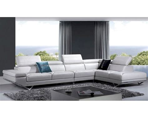 modern style sectional sofa taupe leather sectional sofa in modern style 44l5972
