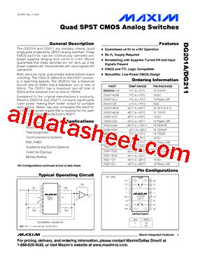maxim integrated products reading dg201ady datasheet pdf maxim integrated products
