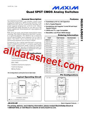 maxim integrated products dublin address dg201ady datasheet pdf maxim integrated products