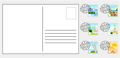 card insert template ks1 10 best images of postcard writing template for