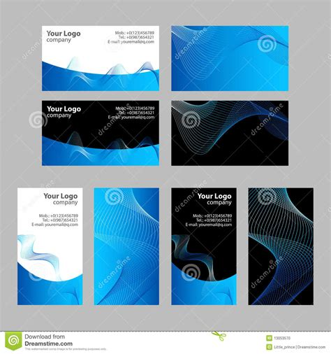 business cards templates front and back stock photo