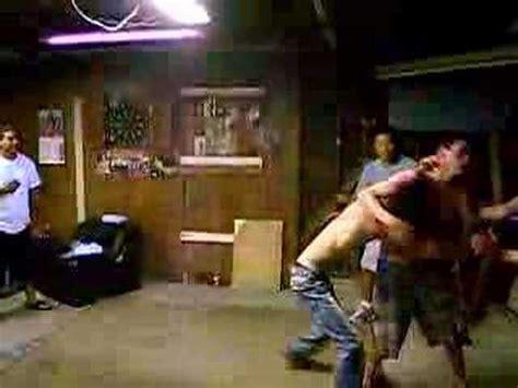 backyard ufc garage backyard wrestling ufc fight beatdown youtube