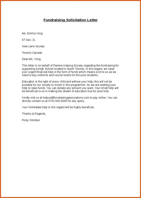 Letter Financial Support Letter solicitation letter for financial support images