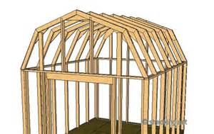 Barn Style Roof by Shed Roof Gambrel How To Build A Shed Shed Roof
