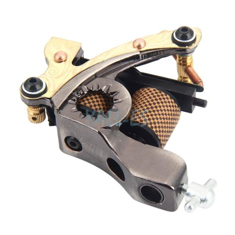 carbon steel tattoo machine gun liner and shader 369940 10 wrap coils low carbon steel tattoo machine gun for