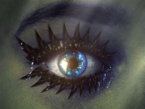 Light Blue Backgrounds Free Illustration Eye Mystical Blue Green Free Image