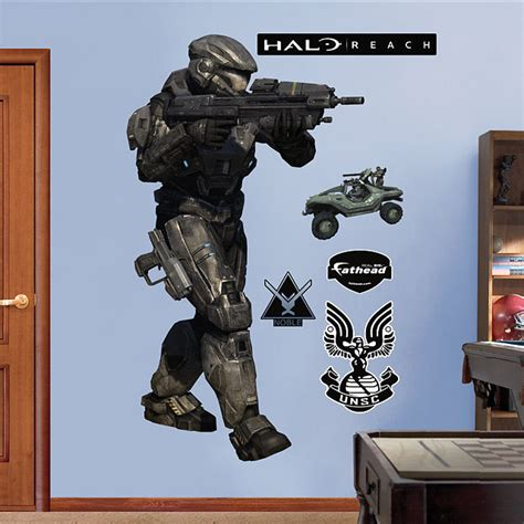 halo wall stickers fathead halo noble six wall graphic